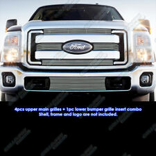 Fits 2011-2016 Ford F-250/F-350/Lariat/King Ranch/XLT Billet Grille Grill Combo