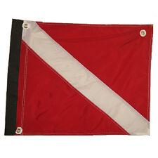"Nylon Dive Flag with Velcro® Side & Plastic Stiffener, 20""x24"""