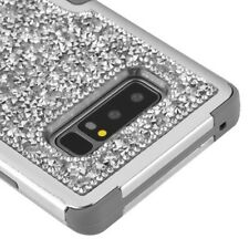 FOR SAMSUNG GALAXY NOTE 8 SILVER GREY CRYSTAL BLING SHOCKPROOF CASE TUFF COVER
