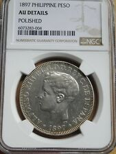 Philippines, Spanish Peso 1897 SG V, Alfonso XIII , AU Details