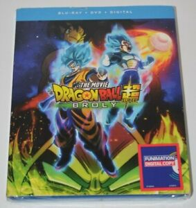 Dragon Ball Super: Broly (Blu-ray, 2018) W/ Slip Cover - Factory Sealed