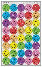 """Smile Sparkle Glitter Stickers Labels Multi Color 160 Stickers Large 3/4"""""""