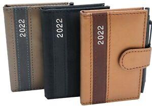 Taschenkalender mit Stift 2022 A7 Notiz Terminplaner Kalender Timer Buchkalender