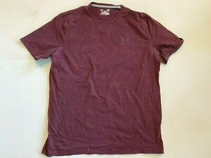 Under Armour Shirt Men's Large Heatgear Burgundy Logo Tee