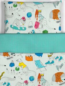 IKEA Flickoga COOL ANIMALS Kids Teen Twin Duvet Cover & Pillowcase Multicolor