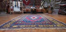 Antique 1900-1939's Wool Pile Natural Dye Area Rug 5x9ft