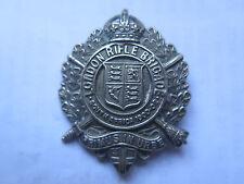 WORLD WAR I COLLAR BADGE for LONDON RIFLE BRIGADE (SOUTH AFRICA 1900-02) c1920s