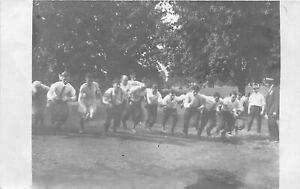 H43/ Sports Postcard RPPC c1910 Fraternity? Track Meet Race Game 3