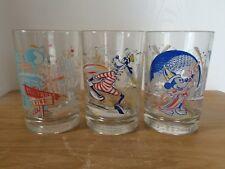 Disney World Remember The Magic Drinking Glass X 3 McDonalds 25th Anniversary