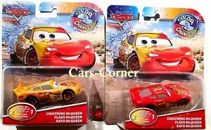 Disney Pixar Cars Lightning McQueen IN 2 Colours Color Changer Mattel 2018 New