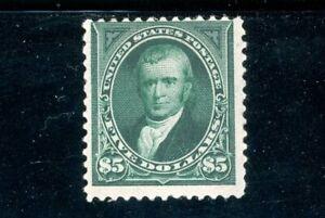 USAstamps Unused FVF US 1894 $5 Marshall Bureau Issue Scott 263 OG MNH