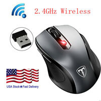 2.4GHz USB Wireless Optical Mouse Mice for Apple Mac Macbook Pro Air PC Black US