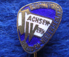 GERMANY D.D.R. , SACHSENWERK , FOOTBALL CALCIO SOCCER OLD PIN BADGE