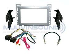 Radio Stereo Installation Dash Kit Combo 2DIN SILVER + Harness + Antenna CH11