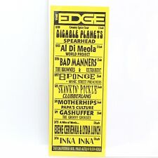 The Edge Creamy Spice Tour February 20 Flyer Palo Alto Disable Planets Spearhead
