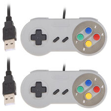 2 x Retro Super Nintendo SNES USB Controller Jopypads For Win Mac SF PC Gamepads
