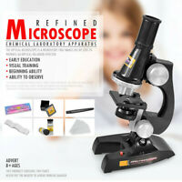 Children Microscope Kit with Light Science Lab Magnifier Educational Kids Toys