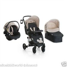 New Hauck Disney Mickey Mouse Charcoal Miami 4S Trio Travel System set+Raincover