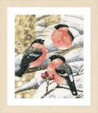 Bullfinch - Marjolein Bastin Lanarte Counted Cross Stitch Kit w/27 Ct Evenweave
