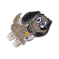 Portable Alloy Funny Dog Golf Ball Marker with Magnetic Golf Hat Clip