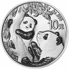 2021 China Silver Panda 30 g 10 Yuan Coin. In Stock, Ships Asap!