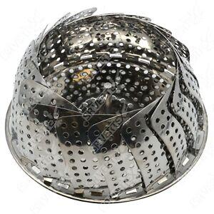 23cm Stainless Steel Steamer Adjustable Collapsible Basket Kitchen Esential Gift