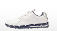 Callaway 2017 XFER Fusion Men's Golf Shoes Spikeless Leather Free EMS / Navy