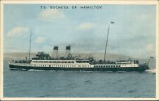 Postcard Shipping ferry T.S Duchess Of Hamilton Dennis card unposted