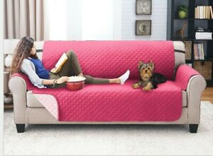 SlipcoversRus Pet Cat Dog Protector Sleeping Mat Couch Cover Quilted Pink