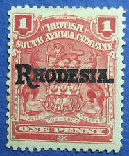 1909 RHODESIA 1d SCOTT# 83c S.G.# 101c UNUSED                            CS09723