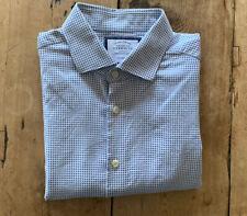 Charles Tyrwhitt Mens Shirt Blue Micro-Dot 16.5/34