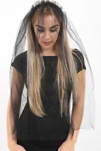 Black Veil on Hair Band