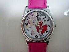 NEW Betty Boop Boy Girl Child Fashion Pink Wrist Watch Wristwatch + Charm