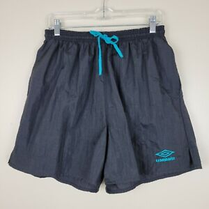 Umbro XL Black Swim Trunks With Elastic Waistband 2 Pockets Ties On Front
