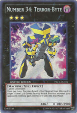 Yugioh! Number 34: Terror-Byte - PRC1-ENV02 - Secret Rare - Limited Edition Near