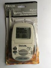 Taylor Gourmet Digital Silver Popular LCD Kitchen Food Thermometer with Timer