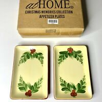 Southern Living At Home Gail Pittman Christmas Memories Appetizer Plates 40973