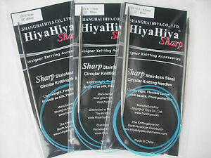 "HiyaHiya 2.25mm x 80cm (32"") Sharp Stainless Steel Circular Knitting Needles"
