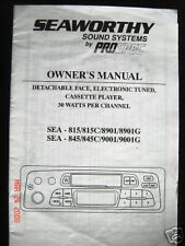 SEAWORTHY SOUND SYSTEM OWNERS MANUAL/ INST. SEA-815/813