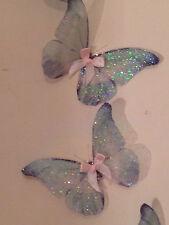 Duck Egg Butterflies 3D Sparkling Fairy Dust Butterfly Accessories