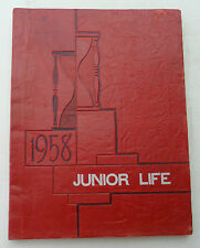 Vintage 1958 Chippewa Falls Junior Life Middle School Yearbook Wisconsin