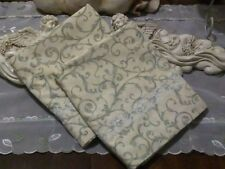 COUNTRY COTTAGE SET/2 BEAUTIFUL GARDEN OF SAGE VINES  & CREAM  LACE PILLOWCASES