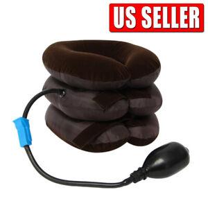 Cervical Neck Traction Device Inflatable & Adjustable Neck Stretcher Neck