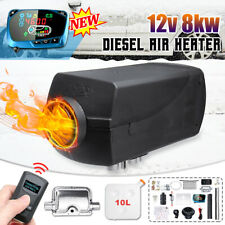 8KW 12V Diesel Air Heater Upgrade LCD Thermostat For Truck Boat Car Bus Trailer
