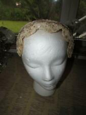 ANTIQUE WEDDING HAT HEAD PIECE BEAUTIFUL FAUX PEARL ACCENTS