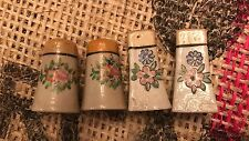 Antique Made in Japan Hand Painted Porcelain Salt and Pepper Shaker Set Corks