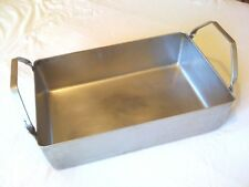 British Army Large Heavy Duty Stainless Steel 370X250MM Deep Roasting dish