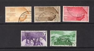 Italy 1935 Complete Air Mail Set - Used -SC# C79-C83  Cats $621.50   No Reserve!
