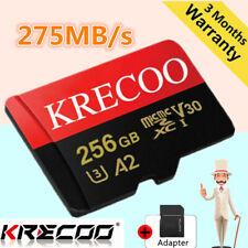 Heiße KRECOO 256 GB Speicherkarte SD 275MB/S Class10 Flash TF-Karte mit Adapter