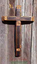 Cross made out of Wine Barrels, Handmade Dark